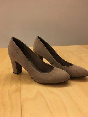 Tamaris Pumps grey brown suede