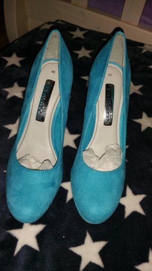 Tamaris Pumps blau Gr. 40