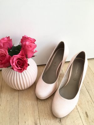 Tamaris Pumps High Heels rosa Pastell Schlangenleder