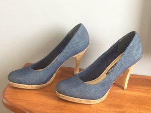 Tamaris Pumps, Jeans & Kork Optik, Gr. 38