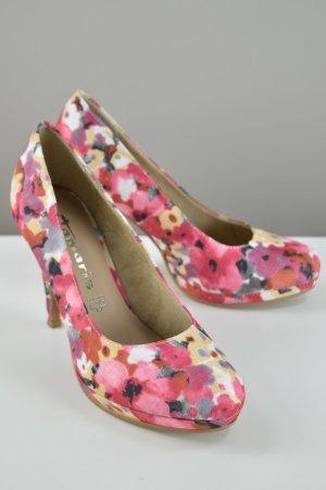 Tamaris Pumps mit Blumenmuster pink Größe 38
