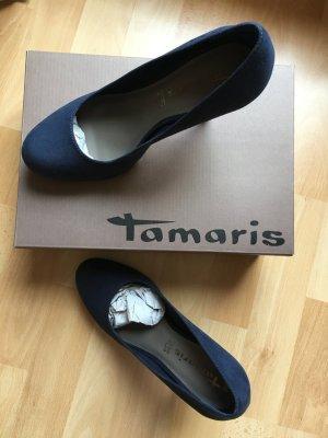 Tamaris Pumps navy blau Gr. 38 mit Originalrechnung