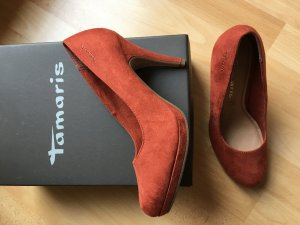 Tamaris Pumps neu Gr. 38 orange rost