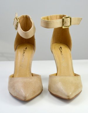 Tamaris High Heel Sandal sand brown leather