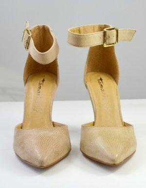 Tamaris High Heel Sandal sand brown leather