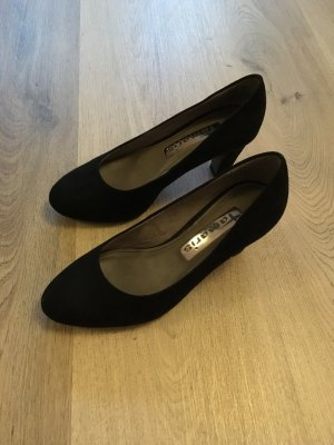 Tamaris Loafers zwart Suede