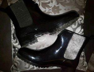 Tamaris Chelsea laarzen zwart-zilver