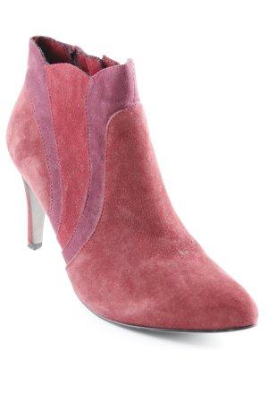 Tamaris Reißverschluss-Stiefeletten bordeauxrot-purpur Colourblocking Elegant