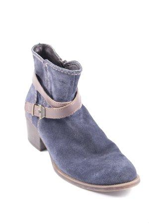 Tamaris Reißverschluss-Stiefeletten dunkelblau-braun Street-Fashion-Look