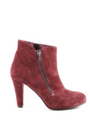 Tamaris Reißverschluss-Stiefeletten rot Casual-Look