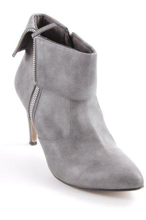Tamaris Reißverschluss-Stiefeletten grau Casual-Look