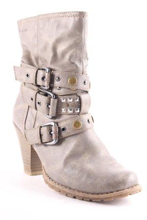 Tamaris Reißverschluss-Stiefeletten graubraun Biker-Look