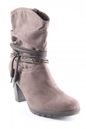 Tamaris Reißverschluss-Stiefeletten graubraun Casual-Look