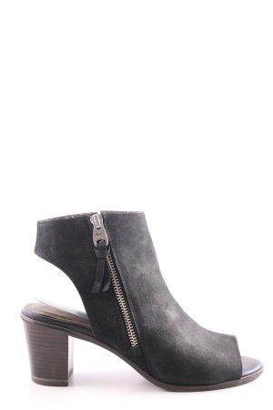 Tamaris Reißverschluss-Stiefeletten schwarz-braun Casual-Look