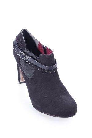 Tamaris Reißverschluss-Stiefeletten schwarz Rockabilly-Look