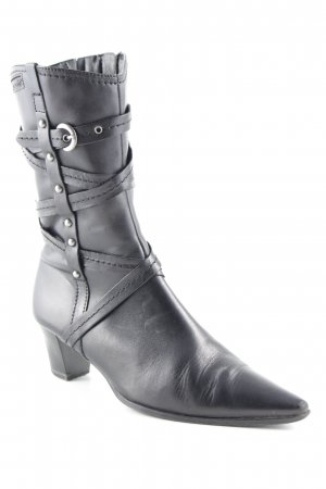 Tamaris Reißverschluss-Stiefeletten schwarz schlichter Stil