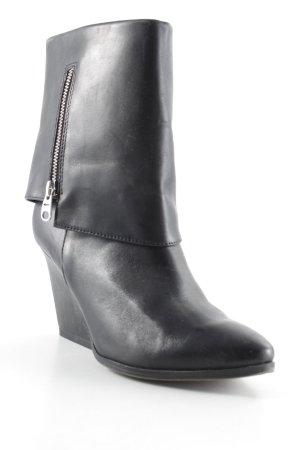 Tamaris Reißverschluss-Stiefeletten schwarz-silberfarben klassischer Stil