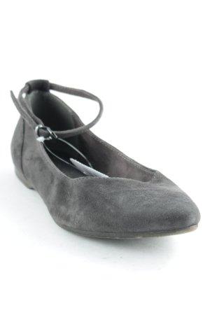 Tamaris Ballerines à lacets gris style décontracté