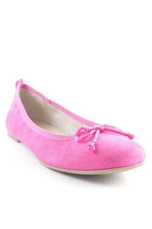 Tamaris Ballerines à lacets rose style simple