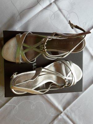 TAMARIS Riemchen-Sandale * Größe 39 * Fb. silber * wie neu