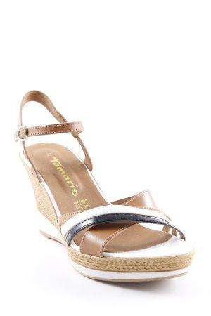 Tamaris Riemchen-Sandalen beige-weiß Elegant