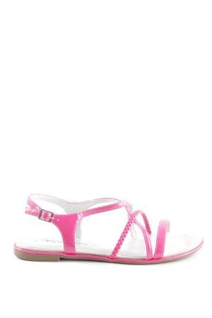 Tamaris Sandalias de tiras rosa-lila look casual