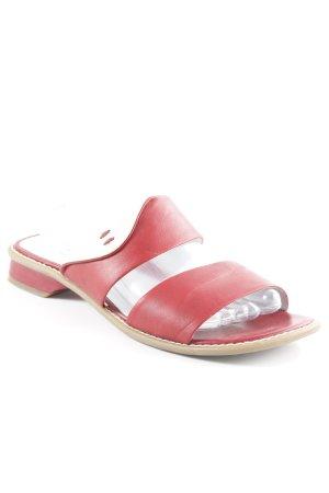 Tamaris Sandalo con cinturino rosso scuro-bianco sporco stile semplice