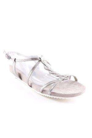 Tamaris Riemchen-Sandalen grau-silberfarben Glanz-Optik