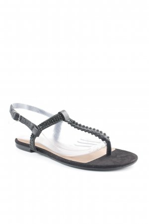 Tamaris Riemchen-Sandalen schwarz Glitzer-Optik