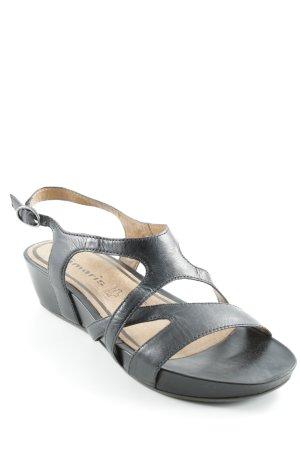 Tamaris Riemchen-Sandalen schwarz schlichter Stil