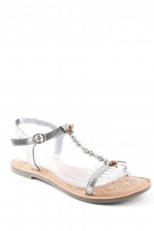 Tamaris Strapped Sandals silver-colored-light brown extravagant style