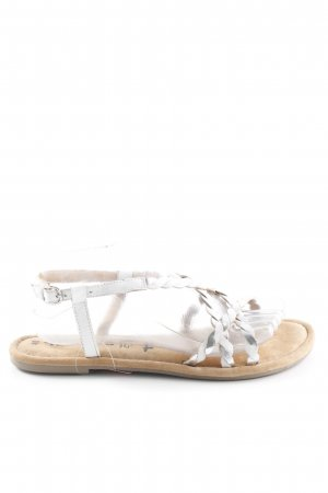 Tamaris Strapped Sandals silver-colored-white beach look