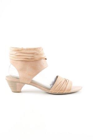 Tamaris Riemchen-Sandaletten nude Casual-Look