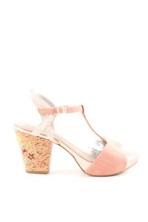 Tamaris Riemchen-Sandaletten pink Casual-Look