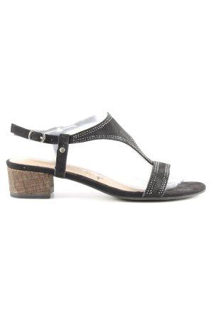 Tamaris Riemchen-Sandaletten schwarz Casual-Look