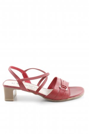 Tamaris Riemchen-Sandaletten dunkelrot-creme Elegant