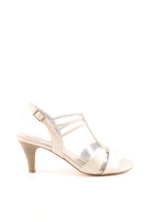 Tamaris Riemchen-Sandaletten creme Business-Look