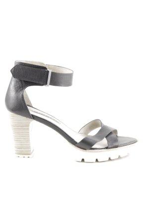 Tamaris Riemchen-Sandaletten schwarz-weiß extravaganter Stil