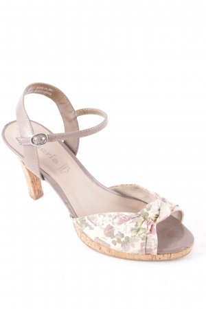 Tamaris Strapped High-Heeled Sandals floral pattern romantic style