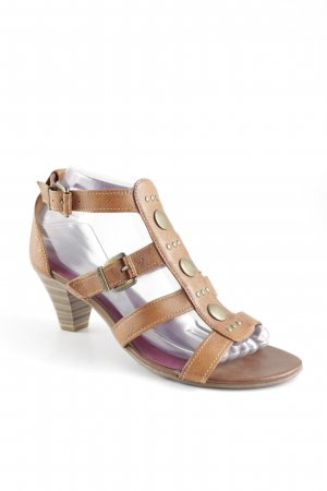 Tamaris Strapped High-Heeled Sandals light brown casual look