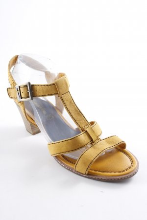 Tamaris Strapped High-Heeled Sandals light brown-gold orange classic style