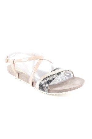Tamaris Strapped High-Heeled Sandals mixed pattern animal print