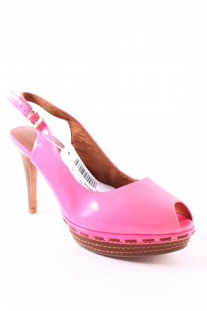 Tamaris Strapped High-Heeled Sandals neon pink extravagant style