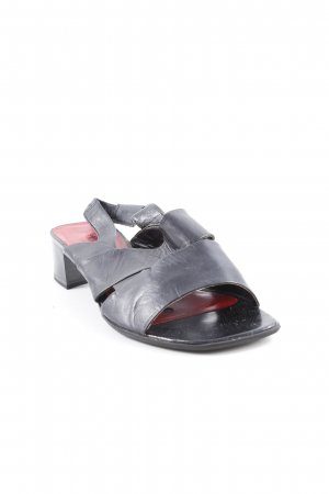 Tamaris Riemchen-Sandaletten schwarz klassischer Stil