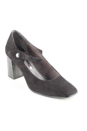 Tamaris Riemchen-Sandaletten schwarz Streifenmuster extravaganter Stil