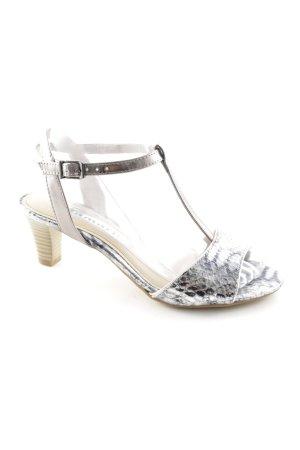 Tamaris Riemchen-Sandaletten silberfarben-schwarz extravaganter Stil