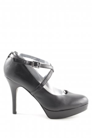 Tamaris Strapped pumps black business style