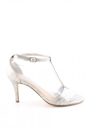 Tamaris Strapped pumps silver-colored animal pattern casual look