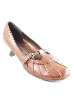 Tamaris Riemchenpumps bronzefarben-dunkelbraun Casual-Look