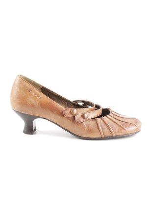 Tamaris Tacones de tiras coñac-color bronce estilo vintage